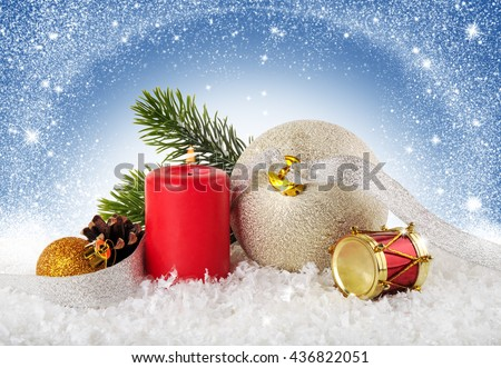 Christmas background. New Year decoration. - stock photo
