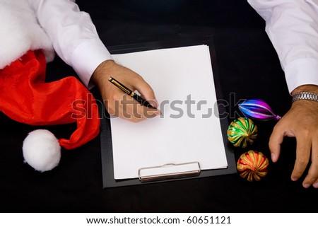 Christmas background. Not written letter - stock photo