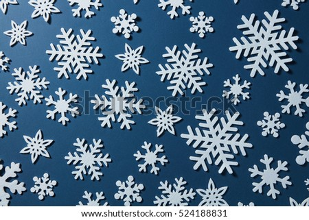 Christmas background of snowflakes