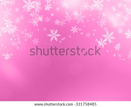 christmas background pink color - stock photo