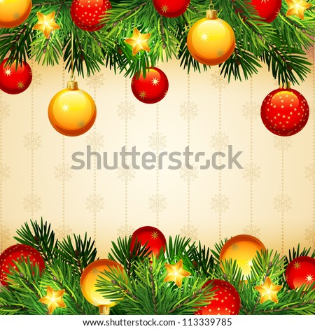 Christmas background - raster version - stock photo