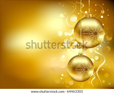 Christmas background (raster  version) - stock photo