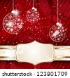 Christmas background. Raster version of vector illustration - stock photo