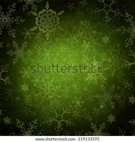 Christmas Background. Retro Holiday Background with Snowflakes. Grungy Backdrop - stock photo