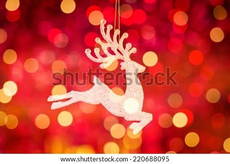 Christmas background/Santa Clause reindeer - stock photo