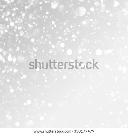 christmas background. Snow on grey background. - stock photo