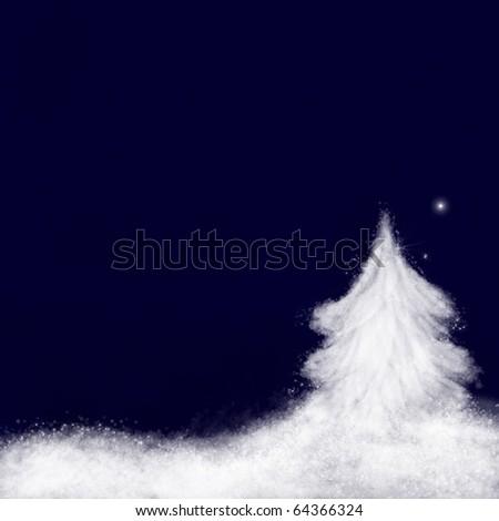 Christmas background : Star of Bethlehem - stock photo