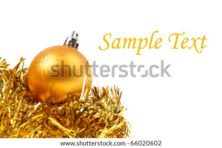 Christmas background - traditional ball decorations. Close up with shallow DOF