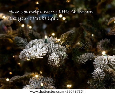 Christmas Background With A Quote From The Famous Song Have Yourself Merry Little