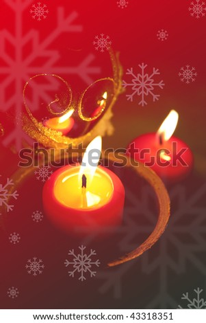 Christmas background with candels