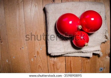 Christmas background with christmas ball, gift