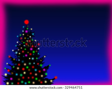 Christmas background with Christmas tree with space for your text - stock photo