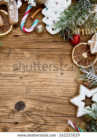 Christmas background with copy space. - stock photo