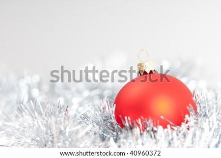 christmas background with red  christmas ball