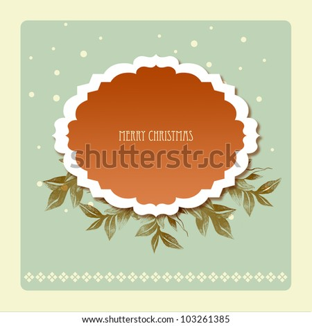 Christmas background with retro pattern - stock photo