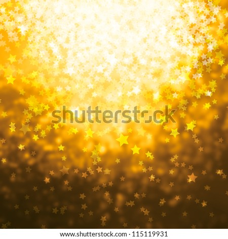 christmas background with shining stars - stock photo