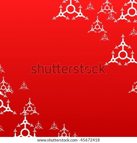 christmas background with snow flakes and copyspace