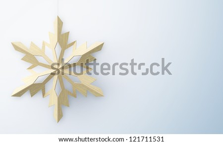 christmas background with snowflake and with place for you text - stock photo