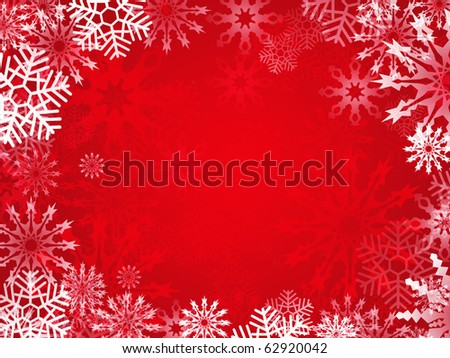 Christmas background with snowflake frame
