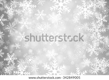 Christmas background with snowflakes. - stock photo