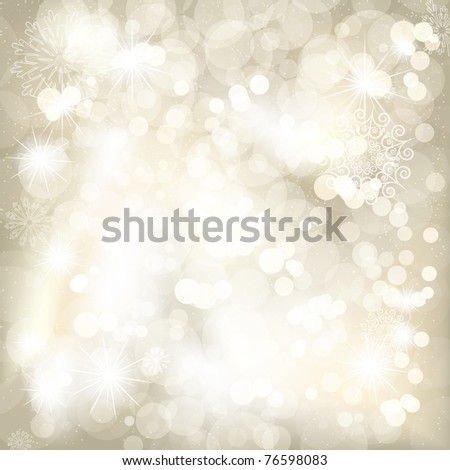 Christmas background with snowflakes and place for your text - stock photo