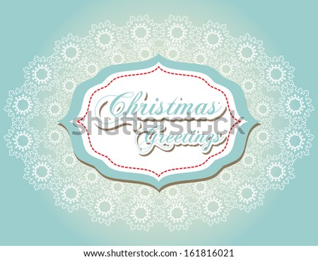 Christmas background with snowflakes, raster version - stock photo