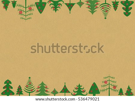 Christmas background with sparkle glitter Christmas trees