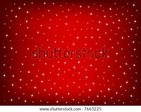 christmas background with star lights - stock photo