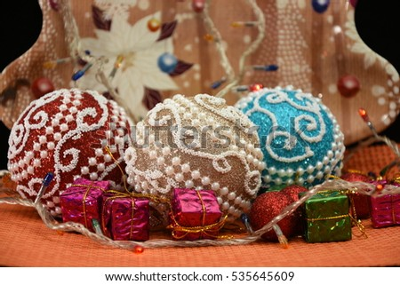 Christmas backgrounds ,Winter globes, Christmas decoration,