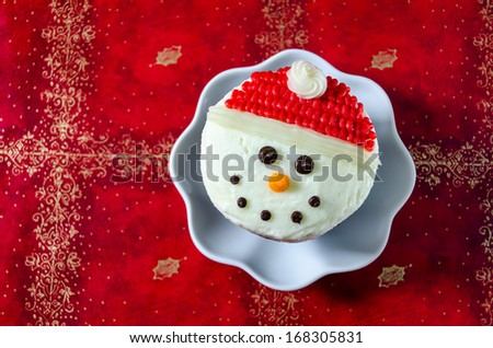 Christmas Baking Cupcakes - stock photo