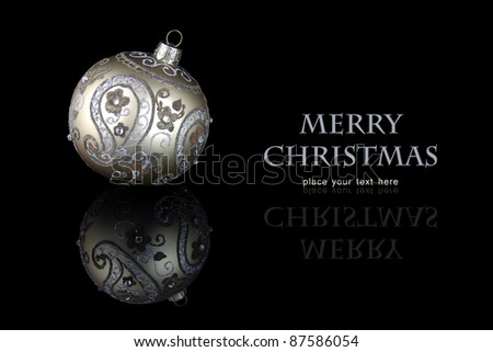 christmas ball - stock photo