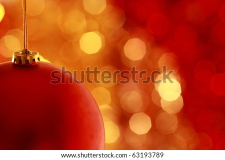 Christmas ball against light background - stock photo