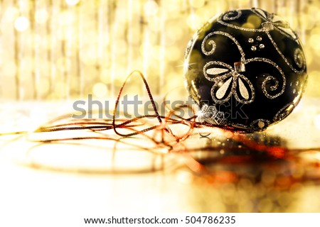 christmas ball and free space for your decoration