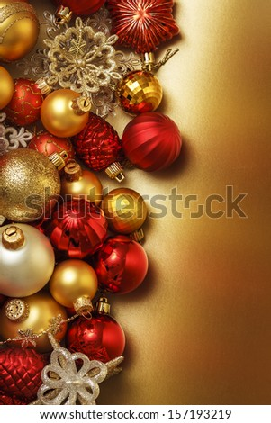 christmas ball background - stock photo