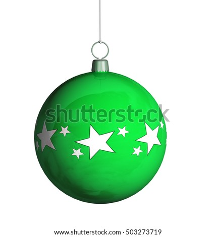 Christmas ball 3D illustration