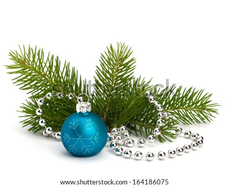 Christmas ball decoration isolated on white background