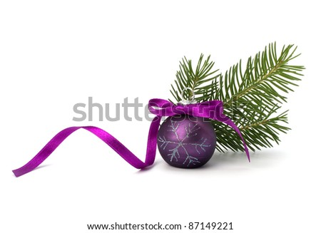 Christmas ball decoration isolated on white background - stock photo