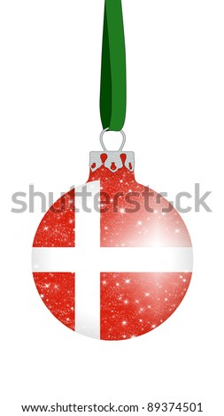 Christmas ball - Denmark - stock photo