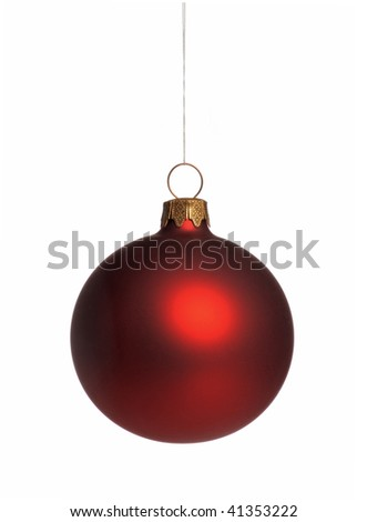 Christmas ball isolated - stock photo