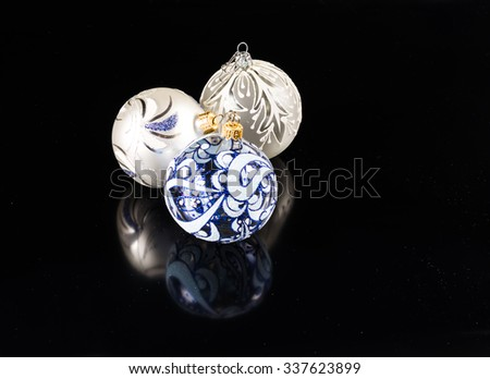 Christmas ball isolated on black background - stock photo