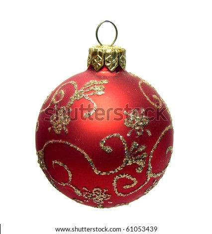 christmas ball isolated on the background - stock photo
