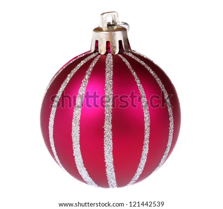 Christmas ball isolated on white - stock photo