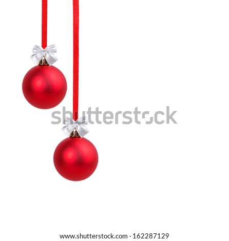 Christmas ball isolated on white background - stock photo
