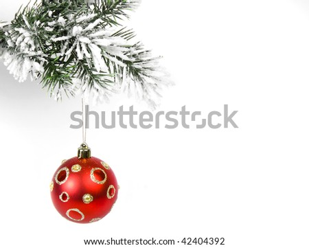 Christmas ball isolated on white background with Copy Space for your text - stock photo