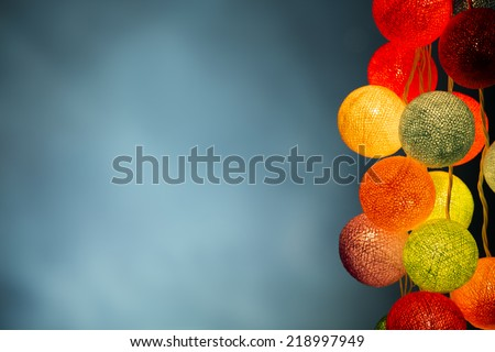 Christmas ball lights,Christmas background. - stock photo