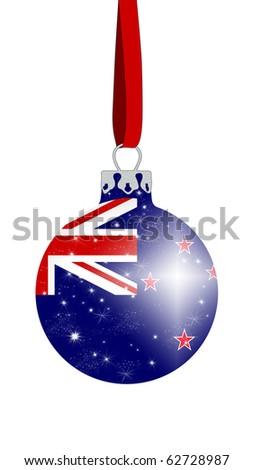 Christmas ball - New Zealand - stock photo