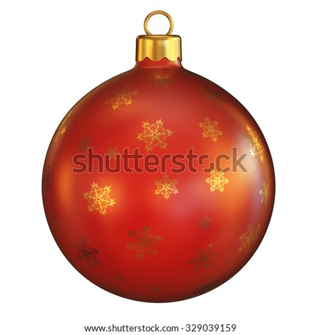 Christmas ball on isolated background - stock photo