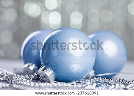 Christmas ball on shiny background - stock photo