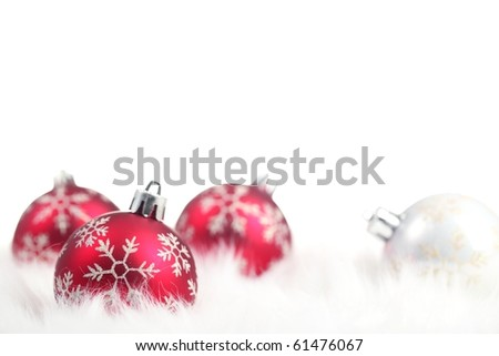 christmas ball on white background,Shallow Dof. - stock photo