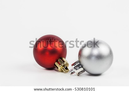 Christmas ball ornament isolate on white